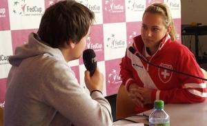 Stefanie Vögele ist mittlerweile zu einer Leistungsträgerin im Fed-Cup-Team geworden